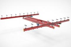 3D модель - Двухбалочный кран подвесной