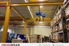Современный небольшой цех оборудован комплектами кранов GROSSKRAN