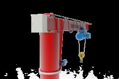 Консольные краны с Электрическим поворотом на  360 градусов