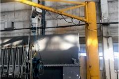 Консольный кран грузоподъемностью 1000 кг, высотой 6м, вылет 6м