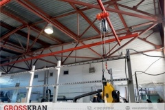 Ручной комплект крана GROSSKRAN на стекольном производстве