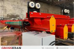 GROSSKRAN сборка мостового крана с выдвижной вбок консолью гп 1000 кг