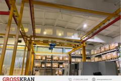 Производство можно сделать в любом помещении с помошью легких крановых систем GROSSKRAN