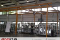 Легкие крановые системы GROSSKRAN на обслуживании стекольного производства