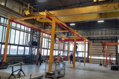 GROSSKRAN монтаж легкой крановой системы на заводе AMAZONE Самара
