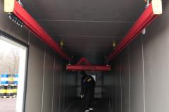 Легкая крановая система grosskran в боксе мобильной мастерской