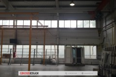 Легкая крановая система GROSSKRAN на производстве окон - Край под удлиннение