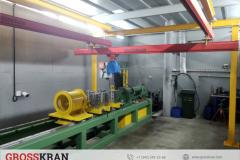 Работа легкой крановой системы GROSSKRAN для обслуживания станка