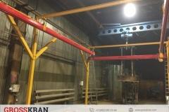 Монтаж легкой крановой системы GROSSKRAN в цехе