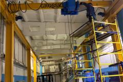 GROSSKRAN организация рабочего пространства в узгом длинном коридоре г п 5000 кг