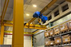 Готовый комплект мостового крана 5000 кг в цехе