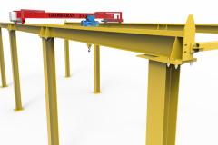 Эстакада с мостовым краном, грузоподъемность 5 тонн, 18 метров