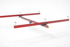 3D модель - Однобалочный кран подвесной