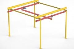 3D модель - Однобалочный кран на опорном каркасе