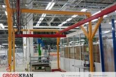 Новая разработка GROSSKRAN. Легкий кран на колесах для перемещения по цеху