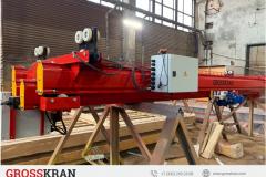 Мостовой кран легкой крановой системы GROSSKRAN с выдвигающейся вбок консолью гп 1000 кг