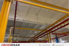 Организация рабочего пространства с помощью легких крановых систем GROSSKRAN