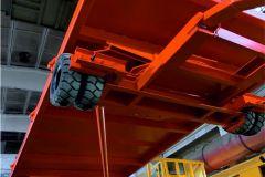 Телега с резиновыми колесами