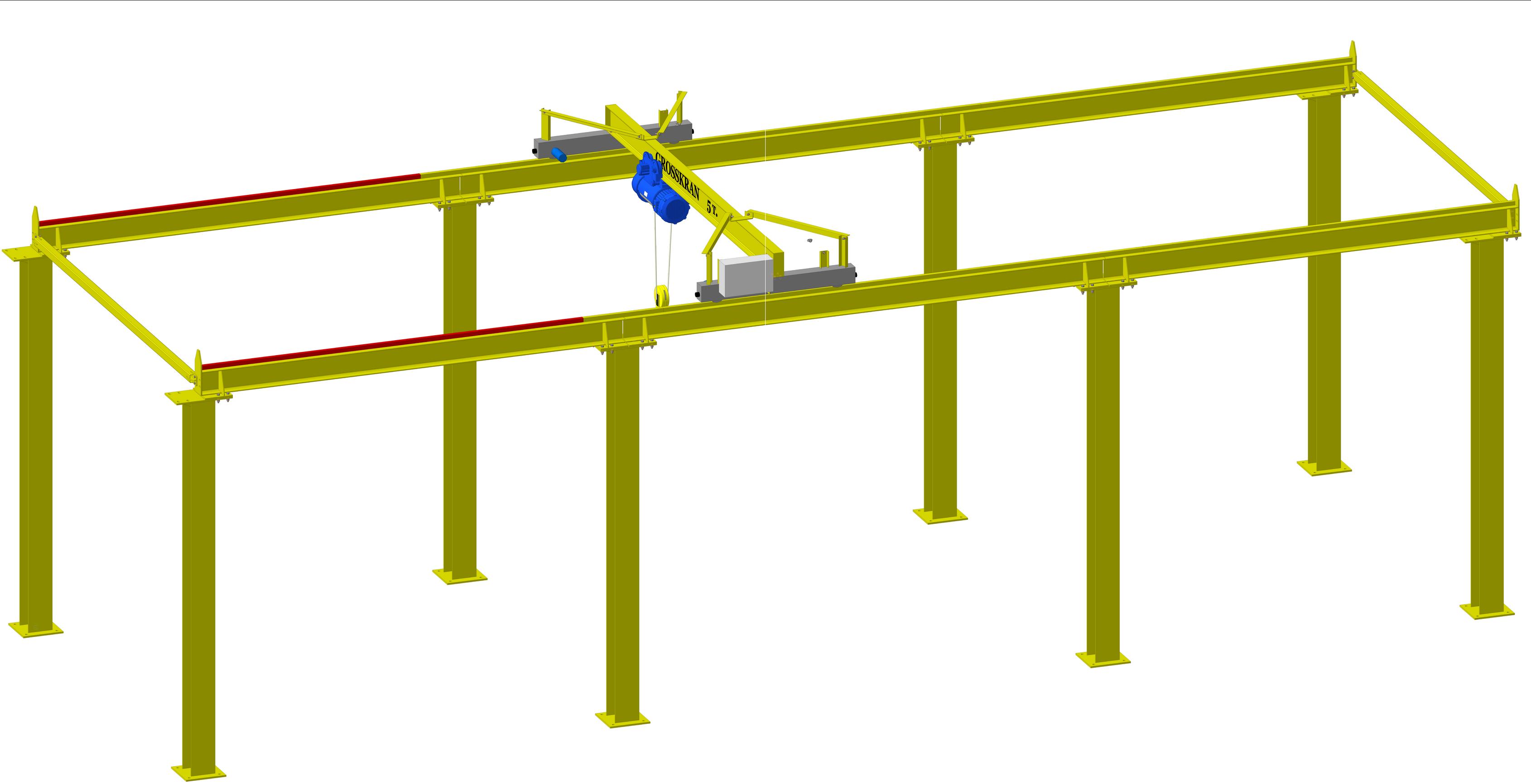 Комплект мостового крана гп 5 т для обслуживания испытательных стендов